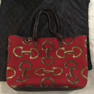 Gucci Canvas Large Tote